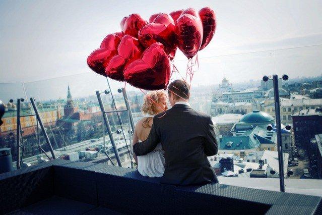 Свадьба в стиле дня святого валентина