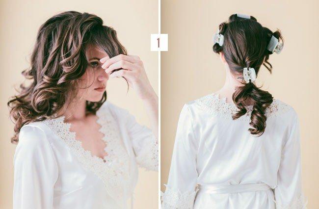 Разделите волосы на 4 секции