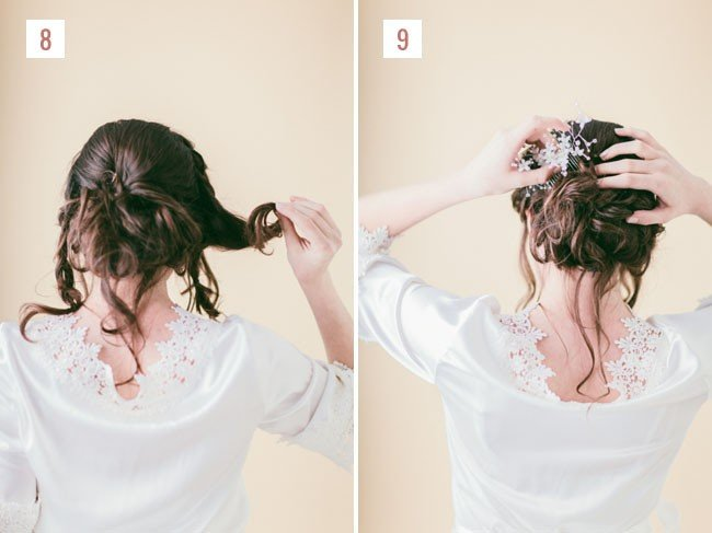 Заколите косы назад