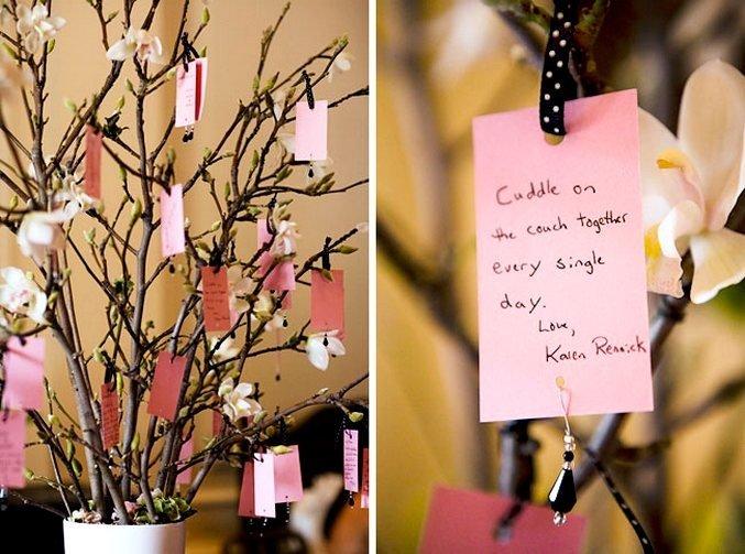 Дерево для пожеланий на свадьбу