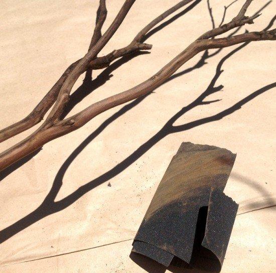 Очистите ветви от шероховатостей