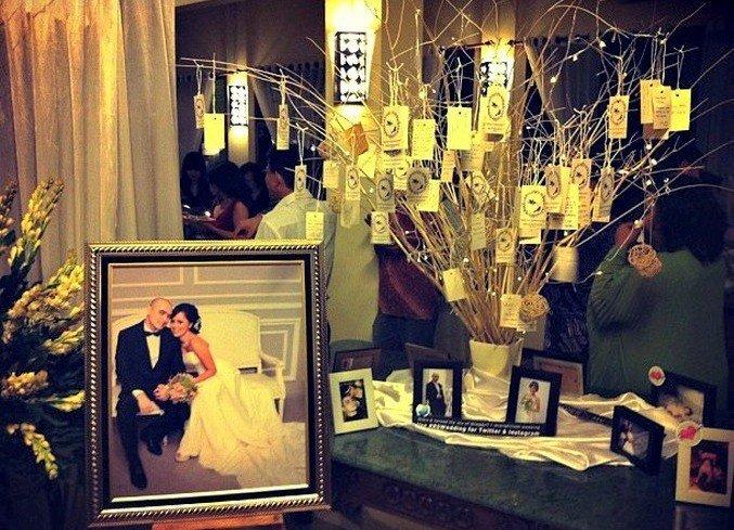 Дерево для пожеланий в декоре свадьбы