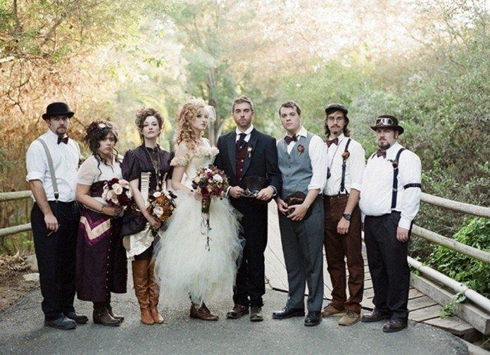 Свадебные наряды в стиле стимпанк
