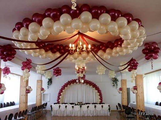 Украшение для зала на свадьбу своими руками