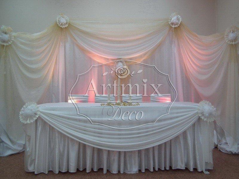 Стол жениха и невесты оформление своими руками фото