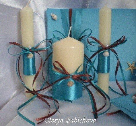 Украшение свечи своими руками фото