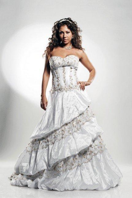 Венчальное платье для полных фото