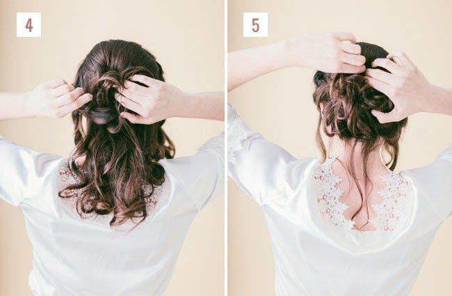 Заколите задние волосы
